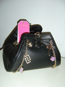 versace for h m tasche bag leder leather charms schwarz neu ebay. Black Bedroom Furniture Sets. Home Design Ideas