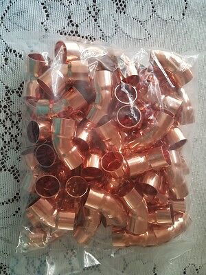 Lot Of 100 Copper Fitting 45 Degree Elbow 34 Copper Plumbing Fitting