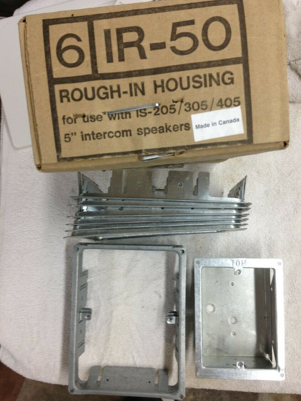 9 NUTONE IR-50 Rough-In Housings and 1 Nutone IR-6 Rough-in box for door station