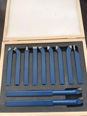11pcs 12mm Metal Lathe Tools Carbide Set Bits For Lathe Cutting Tool Turning