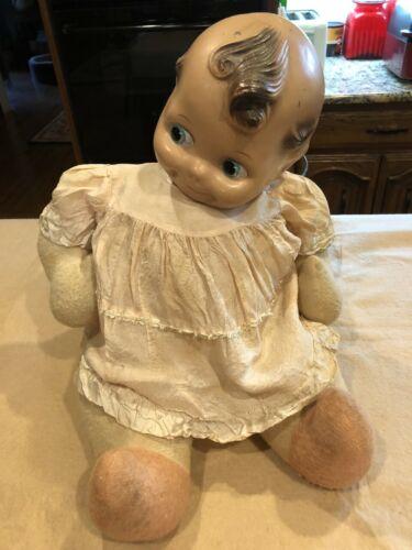 "Vintage Antique Boudoir Baby Doll Kewpie Cuddles 22"" tall"