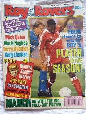 Roy of the Rovers Comic 02 03 1991 Exc Condition