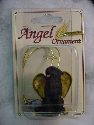 NEWFOUNDLAND dog ANGEL resin Figurine Ornament HAND PAINTED COLLECTIBLE puppy