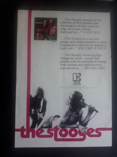 THE STOOGES 1ST LP PROMO AD POSTER FLYER 1969 ORIGINAL US IGGY POP ELEKTRA RARE
