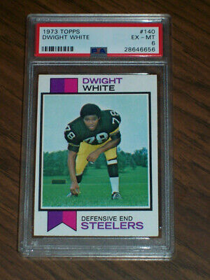 1973 Dwight White rookie, #140 Topps, PSA 6, Pittsburgh Steelers Dwight White Pittsburgh Steelers