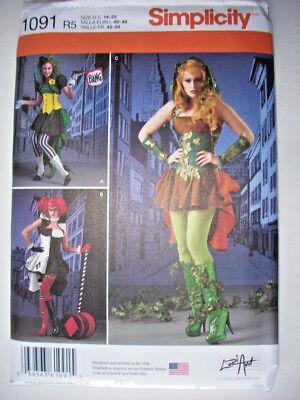 Villianesses Poison Ivy costume pattern 1091 uncut adult  14 16 18 20 22
