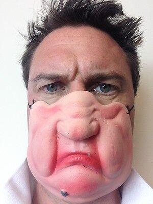 Lustig Halbes Gesicht Grumpy Alter Mann Maske Mole Fat Richter Kostüm Stag Party