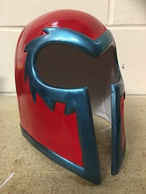 UK MAGNETO RED HELMET ADULT KIDS MASK FANCY DRESS UP HALLOWEEN COSTUME COSPLAY .