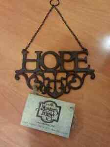 Cast Iron Wall Art 'Hope' Sign Nelson Bay Port Stephens Area Preview