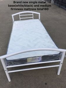 Brand new metal base and mattress single$180/double$280/queen$300 Carlton Melbourne City Preview
