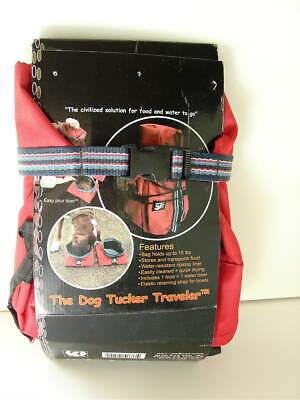 ABO GEAR Dog Tucker Traveler Travel Fabric Fold Kit Food Bag and Bowls NEW NWT