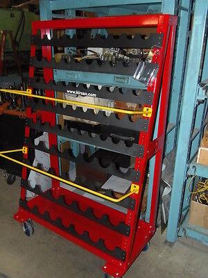 Kirsan Metalworking Tooling Rack On Wheels 78 Capacity 50 Cat 50 28 Cat 40
