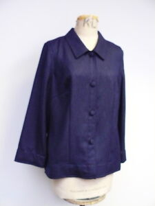 Ladies new very dark blue  blouse by Jacques Vert UK size 14