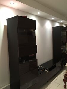 TV Trolley with side cupboards in good condition Homebush West Strathfield Area Preview