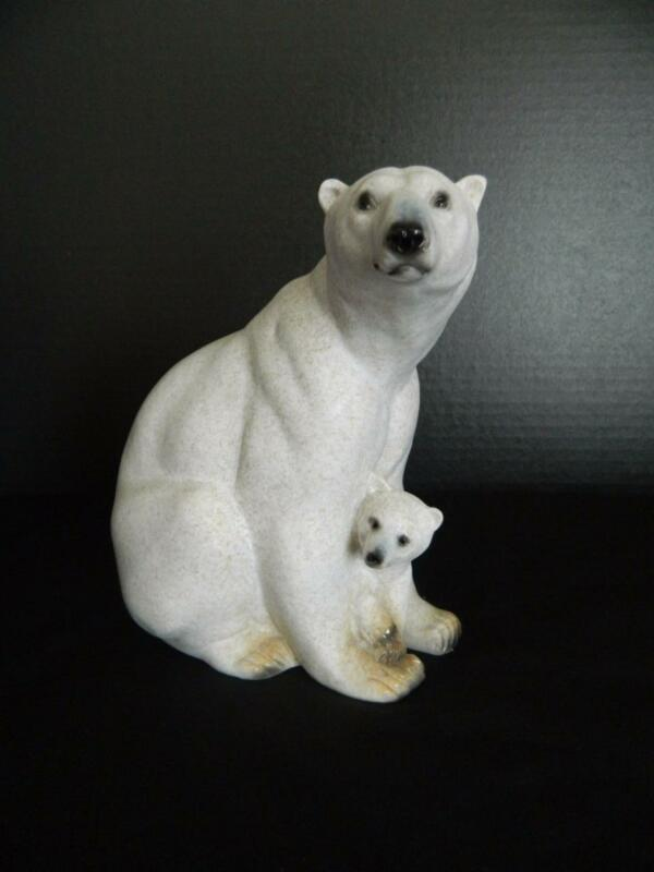 Amy & Addy Polar Bear Mother & Cub Figurine AAC1790 Retired