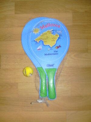 Softtennis Beach Softball Tennis Spiel Set für Kinder 2 Schläger Mallorca