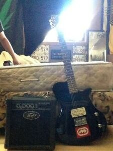 First Class Electric Guitar & Peavey Guitar Amp