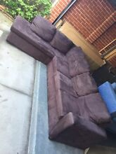 Modern/nice SUEDE material L-shape sofa , can delivery at extra f Mont Albert Whitehorse Area Preview