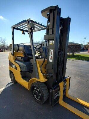 2014 Caterpillar 2c5000 Cushion Lpg 5000 Lb 3 Stage Forktruck Forklift