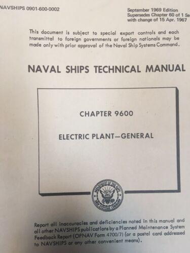 NAVSHIPS ELECTRIC PLANT tech book 1967 US Navy