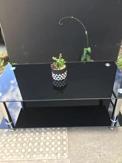Black Brand New Tempered Glass Coffee Table
