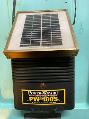 Power Wizard Solar Electric Fencer Pw100s For Parts Or Repair. Shock Tech