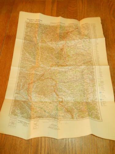 WW II German Army 1:200000 Landekarte - NAVIGATIONAL MAP - HUNGARY - VERY NICE!