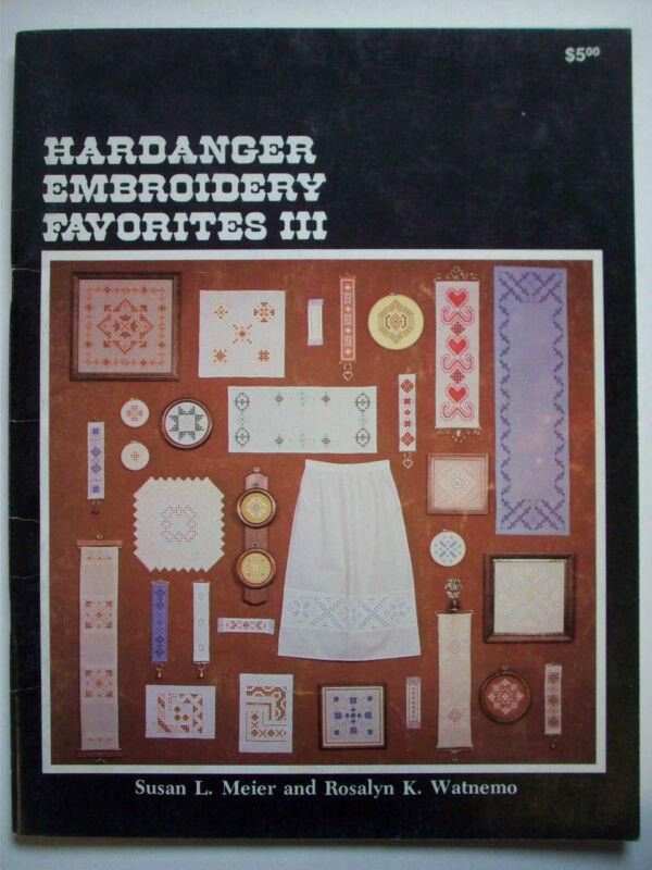 Hardanger Embroidery Favorites III patterns