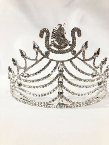 New Daughter of Isis Crown in silver tone with all white Rhinestones, DOI CROWN