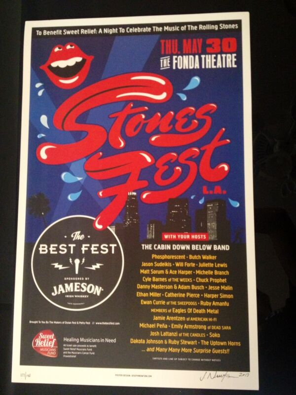 Stones Fest (The Best Fest) Poster signed by Joseph Newton