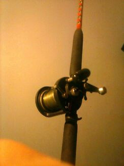 Custom built rod with daiwa sealine reel Angle Park Port Adelaide Area Preview