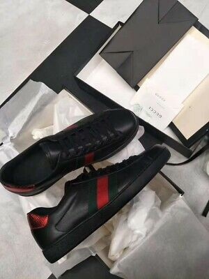 Men's Gucci Shoes Ace Embroidered Sneaker Size 8 = 9 U.S. Dust Bags & Gucci (Ace Leather Shoe Bag)