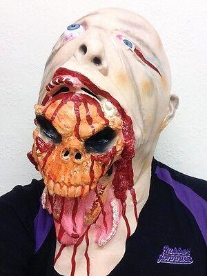 Scary Halloween Latex Skeleton Face Mask Blurp Charlie Style Skull Adult Masks