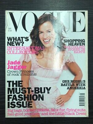 VOGUE Magazine: Jade Jagger, September 2002