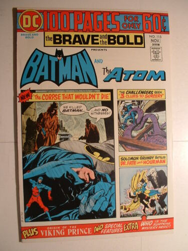 Brave and the Bold #115 - DC 1974 - 100 Pages! With the Atom!