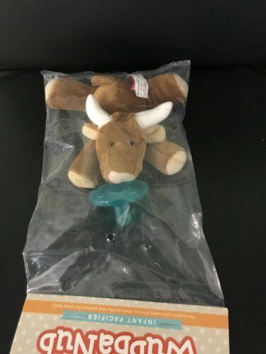 WubbaNub Infant Baby Soothie Pacifier Longhorn Bull Brand New Authentic Wubbanub