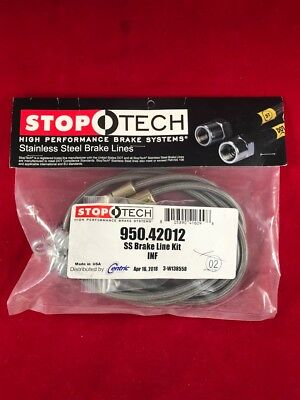 STOPTECH STAINLESS STEEL FRONT BRAKE LINE 14 16 Q60 ALL  95042012