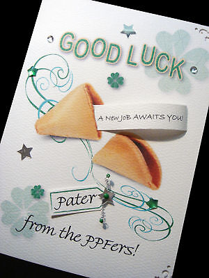 Personalised Handmade good luck 'fortune cookie' card - Personalized Fortune Cookie