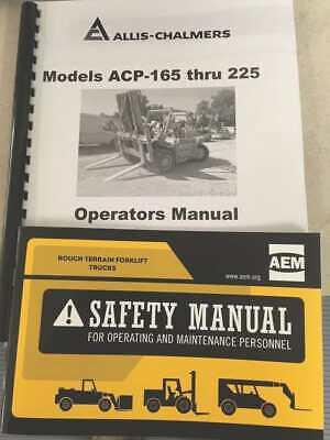 Allis Chalmers Acp165 Through Acp225 Models Operators-tm5526a