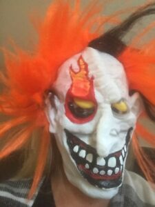 BRAND NEW clown MASK $5 with tags
