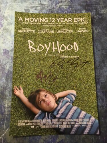 GFA Ethan Hawke & Richard Linklater * BOYHOOD * Cast Signed 12x18 Photo B1 COA