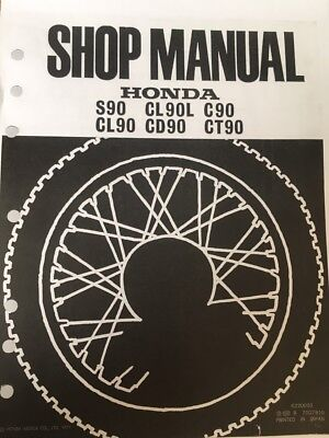 HONDA C90 WORKSHOP SERVICE MANUAL 1977 Paper bound copy
