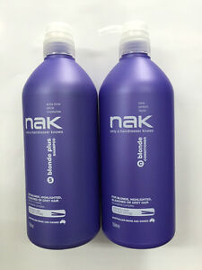 Nak Blonde plus shampoo and conditioner 1 litre Duo with pumps ( 1000ml)