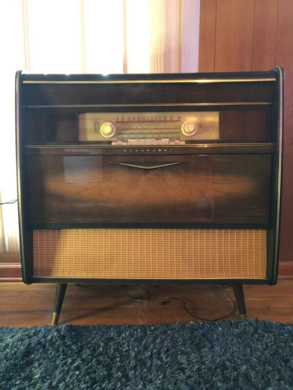 MID CENTURY RARE VINTAGE BLAUPUNKT CONSOLE STEREO AND RECORD PLAYER & Paperwork!