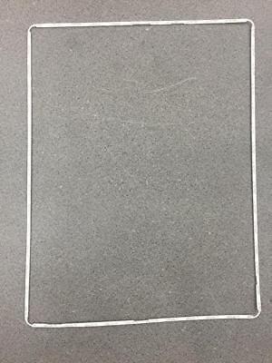 Lcd Plastic Bezel - New iPad 2 3 4 Digitizer LCD Screen Bezel Plastic Middle Frame + Adhesive White