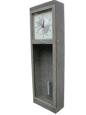 Ibm  master long clock electro mechanical pendulum years '60 industrial design for sale  Italy