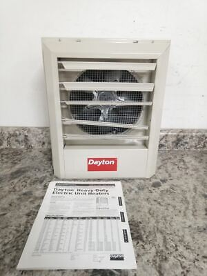 Dayton 2yu63 480v 17000 Btuh 350 Cfm 3 Phase Electric Wall Ceiling Unit Heater
