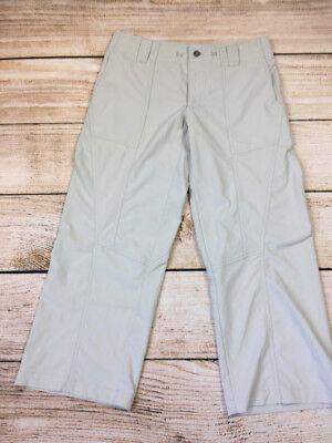 I23 PATAGONIA CROPPED WOMENs PANTS TAN CASUAL TRAIL 6 pants nylon  Womens Trail Cropped Pant