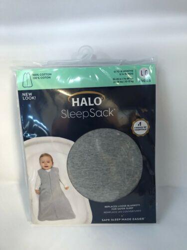HALO Sleepsack 100% Cotton Wearable Blanket, TOG 0.5, Heather Grey, Large