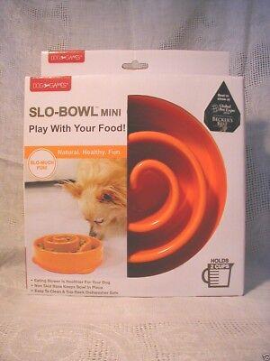 Slow Feeder Slo-Bowl Dog Bowl Dish 2 Cups New Non Skid Base Dishwasher Safe